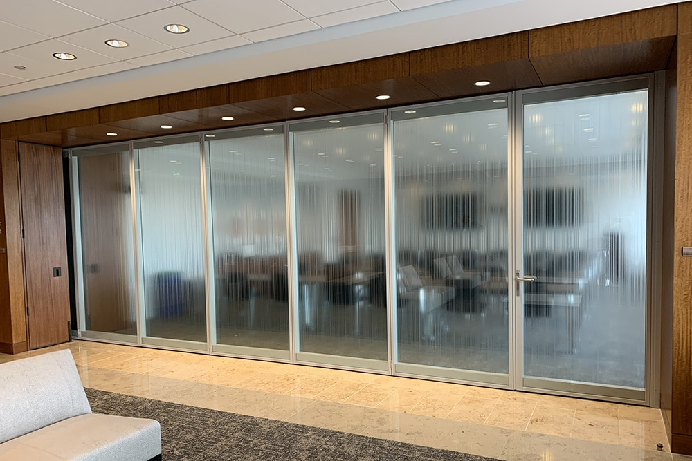 Modernfold Acousti Clear Glass Wall System